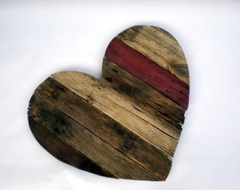 Customize a Heart Crafted from Reclaimed Wood