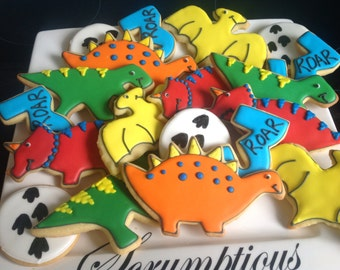 Dinosaur cookie platter