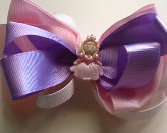 Pink and Lavendar Princess Bow