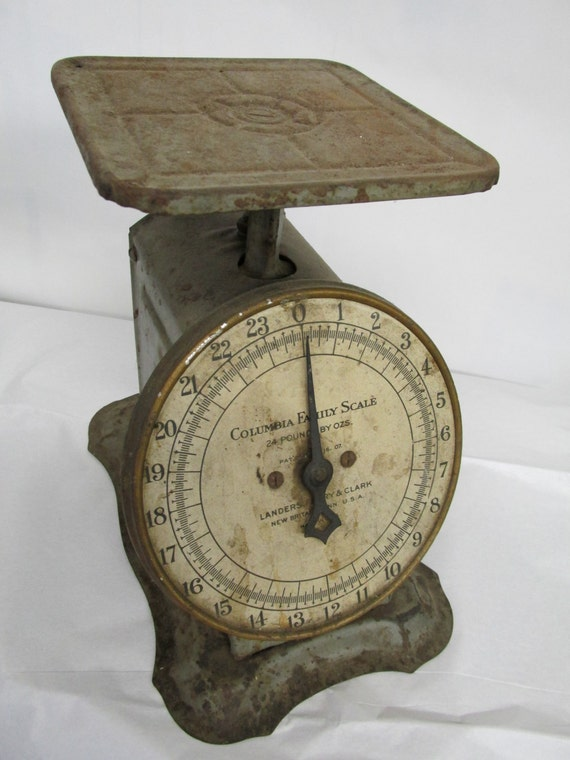 rustic vintage kitchen scale by columbia family scale new