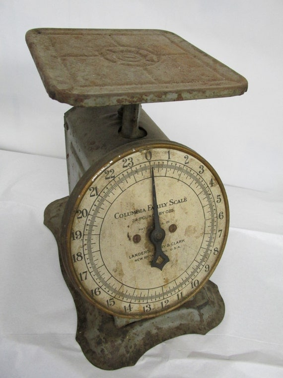 Rustic vintage kitchen scale by columbia family scale new for Rustic kitchen scale