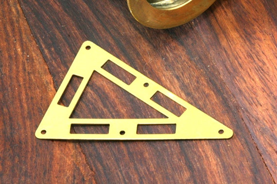 20 pcs 50x33 mm raw brass triangle tag 5 hole connector raw brass charms ,raw brass findings 794R