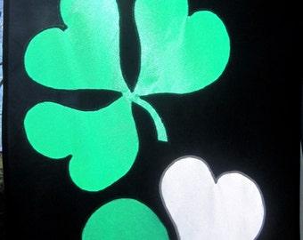 St. Patrick's Day Shamrock Flag Green, Orange, and White Luck of the Irish