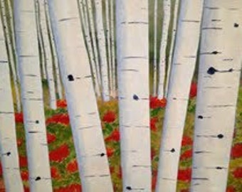 Aspen Grove - a 24x30 acrylic landscape painting
