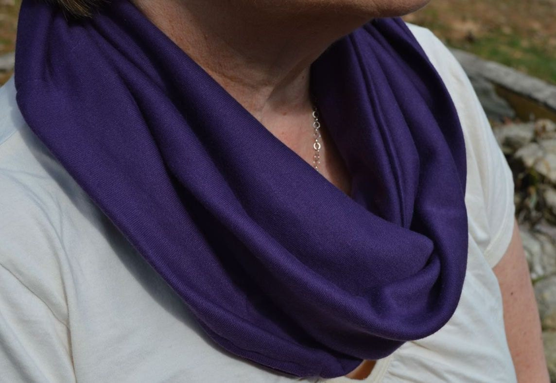 Scarf infinity pocket scarf travel scarf zipper scarf for Travel shirts with zipper pockets