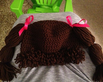 Cabbage patch doll hair hat