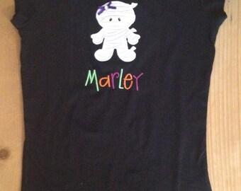 Halloween Mummy Shirt or Baby Bodysuit