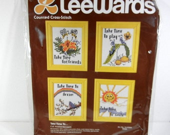 Vintage Counted Cross Stitch Kit LeeWards Kit