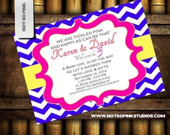 Chevron Baby Shower Invitations ( Boy & Girl)
