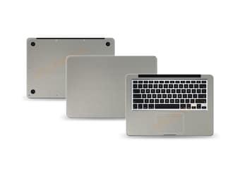 """Macbook Air 11"""" 2nd Gen DECAL Sticker Skin Kit 3M Metal series by Stickerboy-Set 1"""