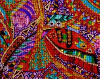 "Needlepoint canvas ""Summer"" (AIV045)"