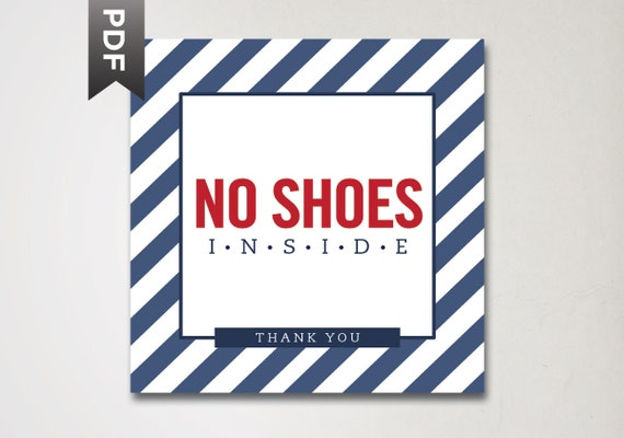 No Shoes In The House Sign Printable 28 Images Please