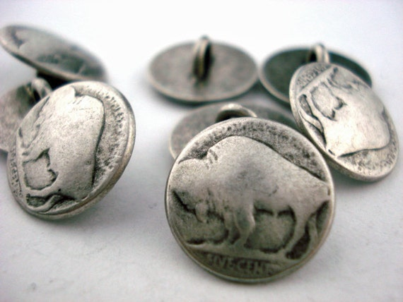 Buffalo nickel buttons
