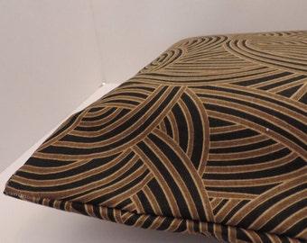 "1 tribal geo print pet bed cover Dog Duvet fits 1 standard sz pillow (19x25"")  black gold Brown"