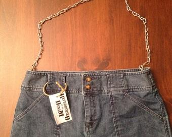 Refurbished Denim Brand UpCycled Denim Pocketbook