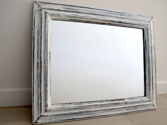 white distressed mirror rustic mirror blue amp white distressed wooden mirror shabby 1024
