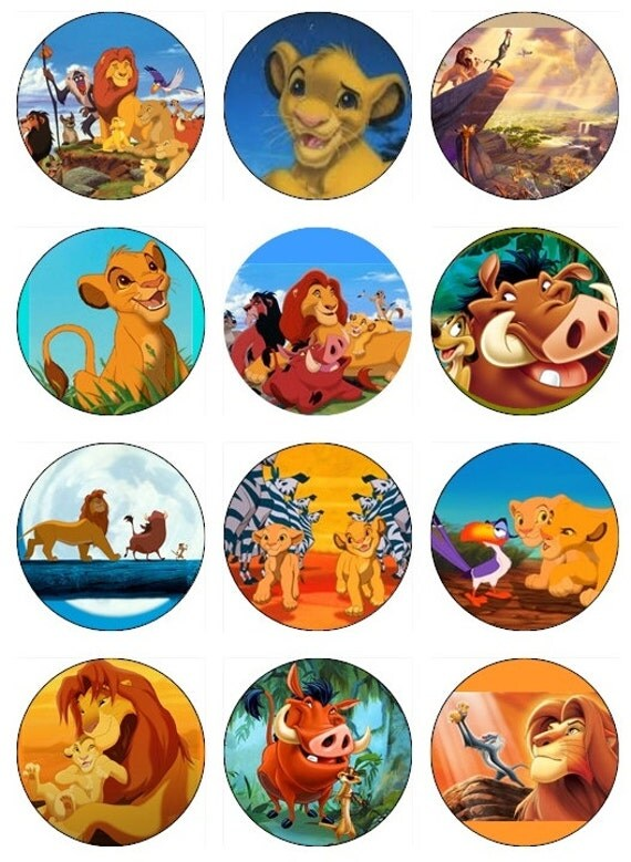 Edible Cake Images Lion King : Items similar to LION KING Edible Image Cupcake Toppers ...