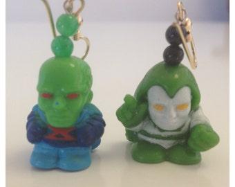 Martian Manhunter &The Spectre Earrings