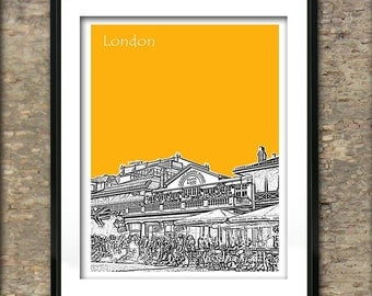 London Art Print Skyline Poster A4 Size Covent Garden England