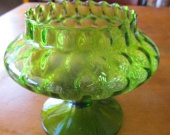 Sale 40% Off!  Vintage Green Glass Dish