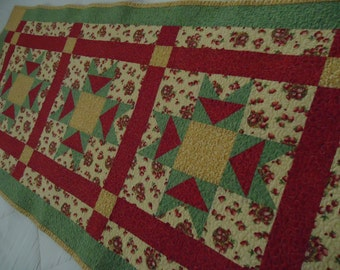 Strawberry Patchwork Table Runner