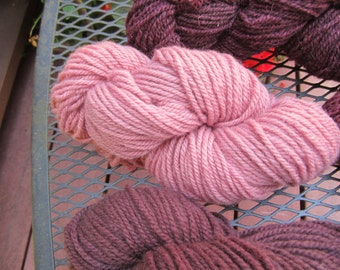 Pink I Naturally Think 100% Wool and Cochineal