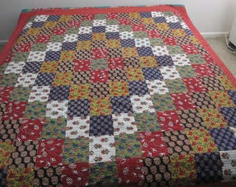 Free Shipping Kantha Patchwork Quilt/  Kantha bedcover/ Indian bedspread/ Kantha Throw/ Kantha Bedding/Handmade Multicolored Quilt
