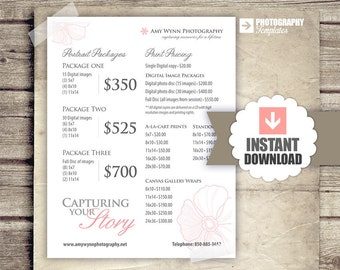 photography price list pricing list for photographers print pricing portrait packages instant