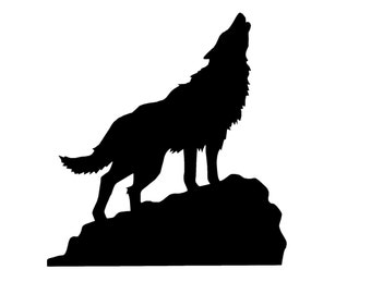 """Howling Wolf  5"""" Decal"""