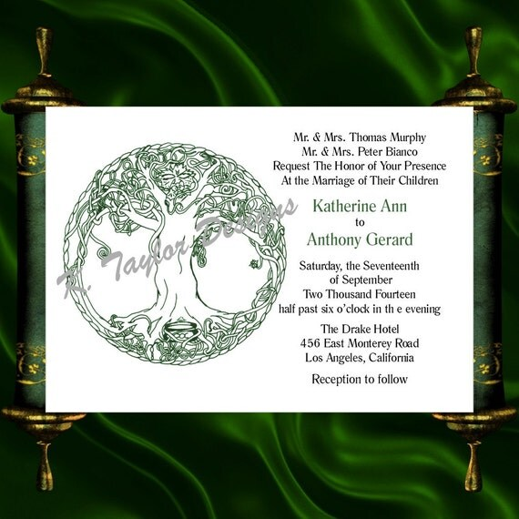 Tree Of Life Invitation Rsvp Celtic Life By