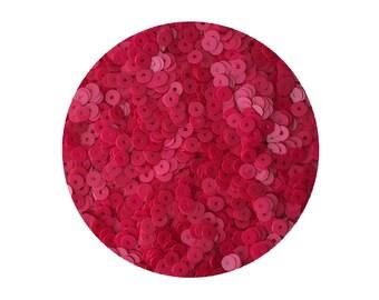 4mm Flat Sequins Opaque Hot Pink Fuchsia