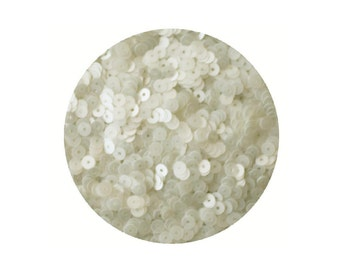 4mm Flat Sequins Oyster White