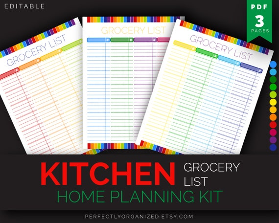 grocery list shopping list meal planner meal by