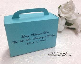 Turquoise Favors Suitcase Favor Box Suitcase Favor Boxes Suitcase Boxes Destination Wedding 25 Included