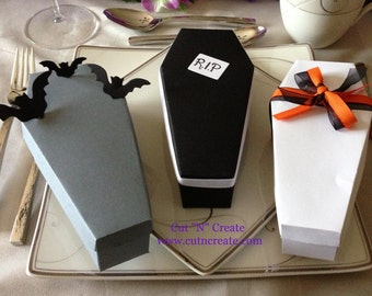 Coffin Box Coffin Favor Box Halloween Wedding Favors Halloween Wedding favours Coffin Favors 25 Included