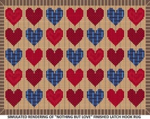 Nothing But Love Latch Hook Rug Pattern - PDF Instant Download