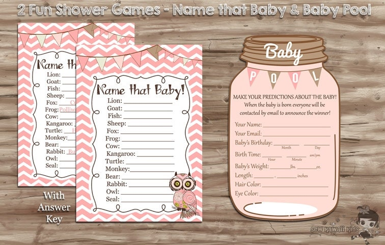 girl baby shower games girl baby pool name that baby mason