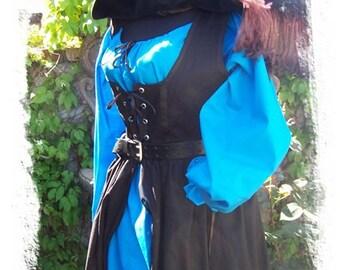 Cotton Renaissance dress gown pirate wench costume