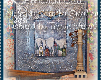 A Midnight Clear - Painted by Martha Smalley, Painting With Friends E Pattern