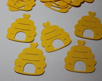 100pc Yellow Bee Hive Die Cuts/Confetti