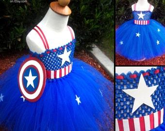 Captain America Costume Tutu Dress