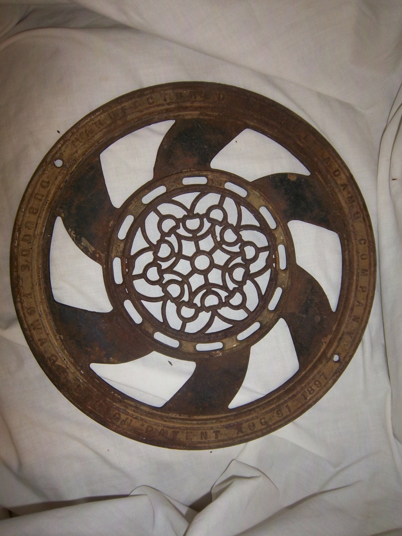 Decorative Grates Registers Free Shipping Floor Grate Cast Iron Vent Drain Antique 1897