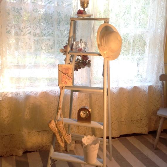 Items Similar To Shelf Ladder Shabby Chic Up Cycled