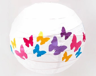 Light fabric butterflies and name, personalized