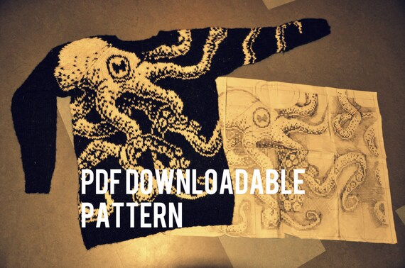 "PDF pattern: Octopus sweater ""Embrace"""