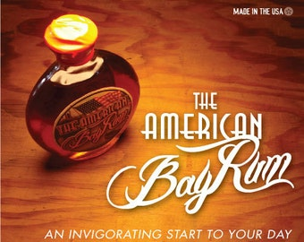 The American Bay Rum          A Handcrafted Aftershave Elixir