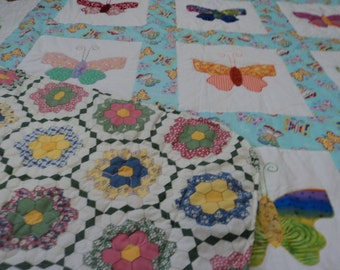 Full Size Applique Butterfly Quilt