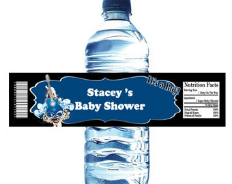 Rockin Guitar Baby Shower Water Bottle Wrapper Party Favor Digital or Printed FREE SHIPPING