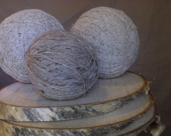 GORgeous raw silk thread/yarn balls in natural hues