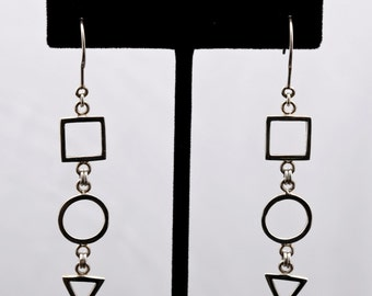 Geo8 - Earrings - Sterling Silver